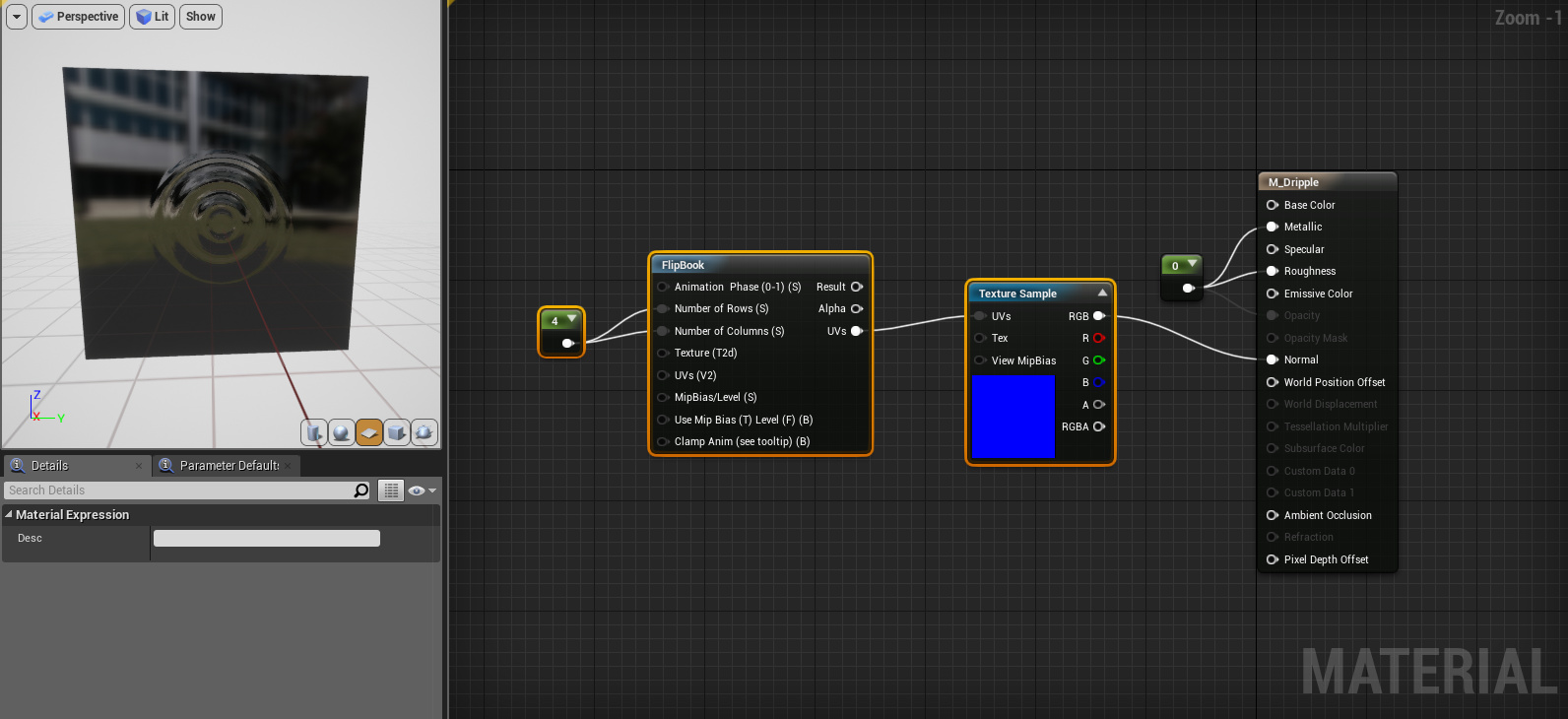 UE4 material - Randomly place a flipbook sequence? - Real Time VFX