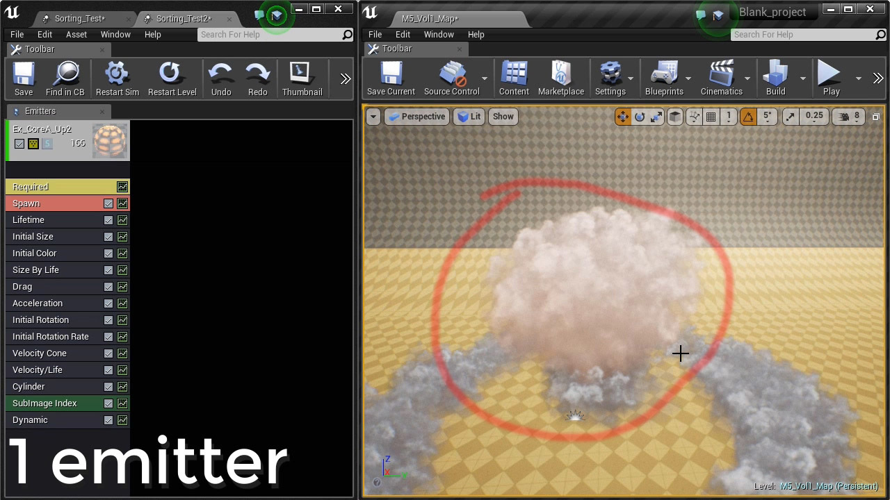 Ue4 particle emitter sorting problem real time vfx malvernweather Gallery