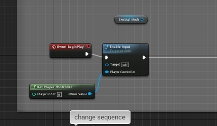 How do I activate an effect with a keyboard input in UE4