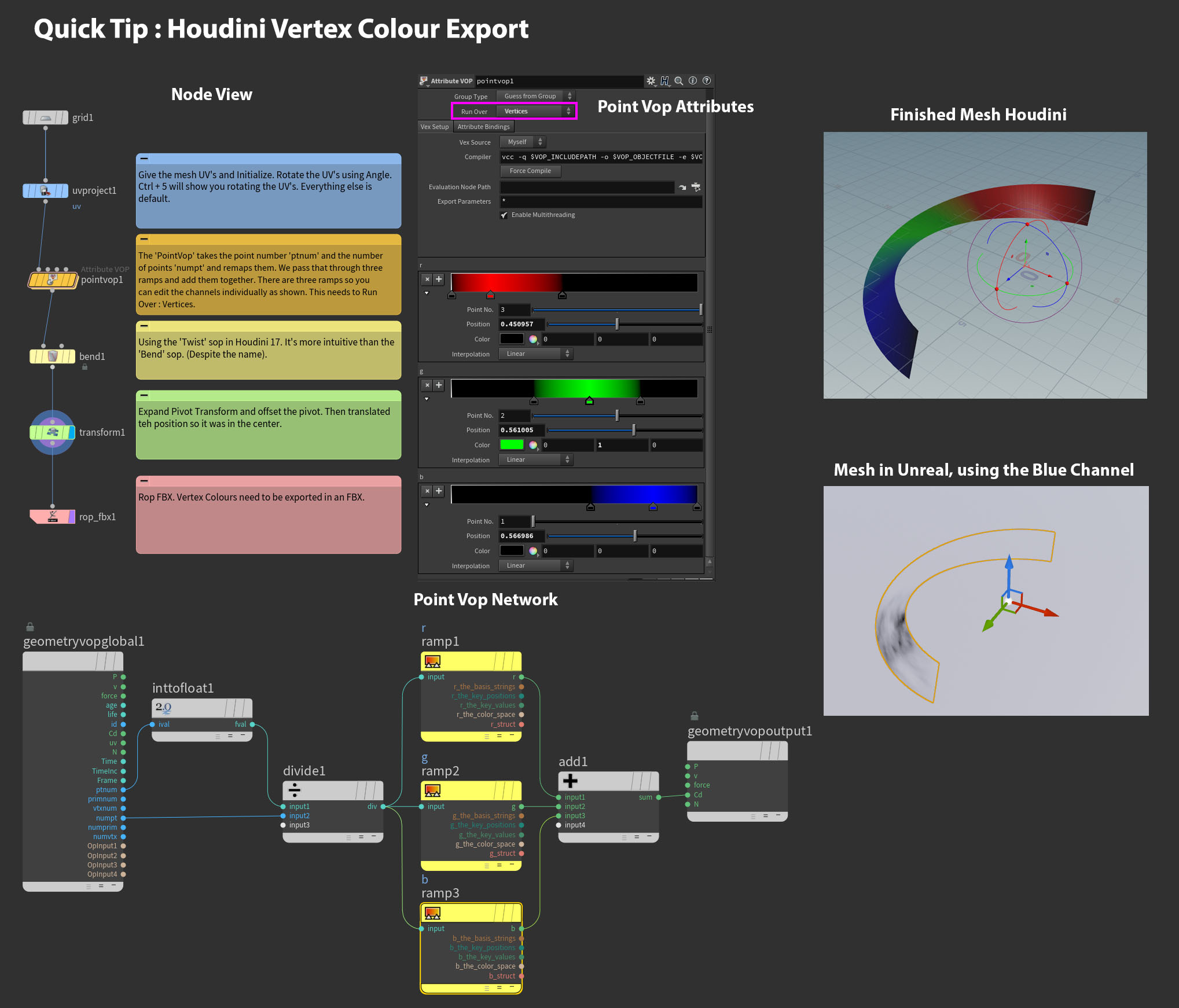 Exporting Vertex Colours from Houdini - Real Time VFX