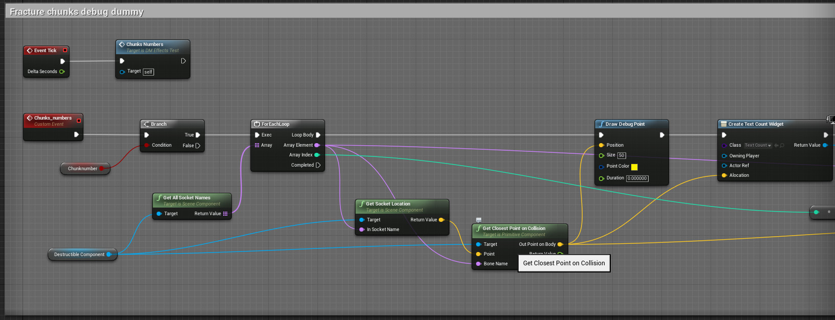 How to attach effects to Fracture chunks (UE4) - Real Time VFX