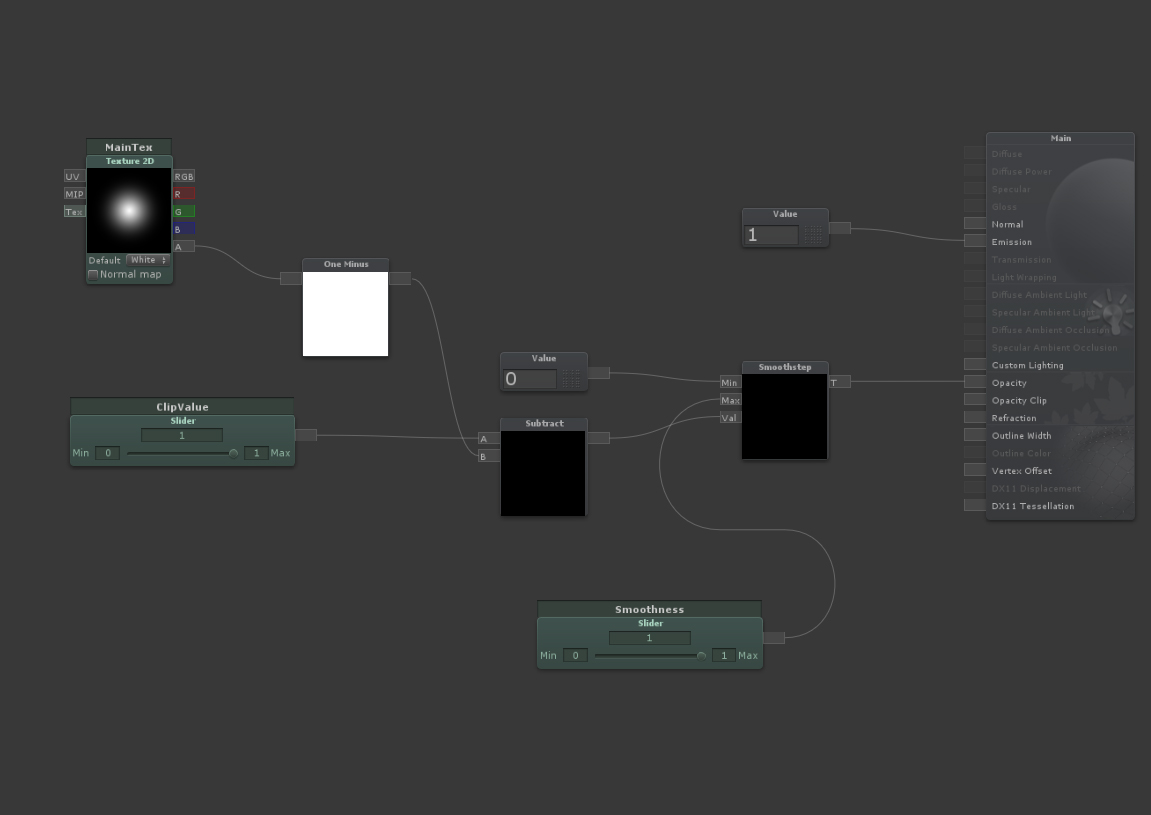 Need help with gradual fading of a dissolve shader - Real Time VFX