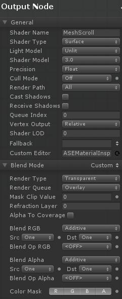 Unity - Amplify Shader Editor - Additive Shader for scrolling mesh